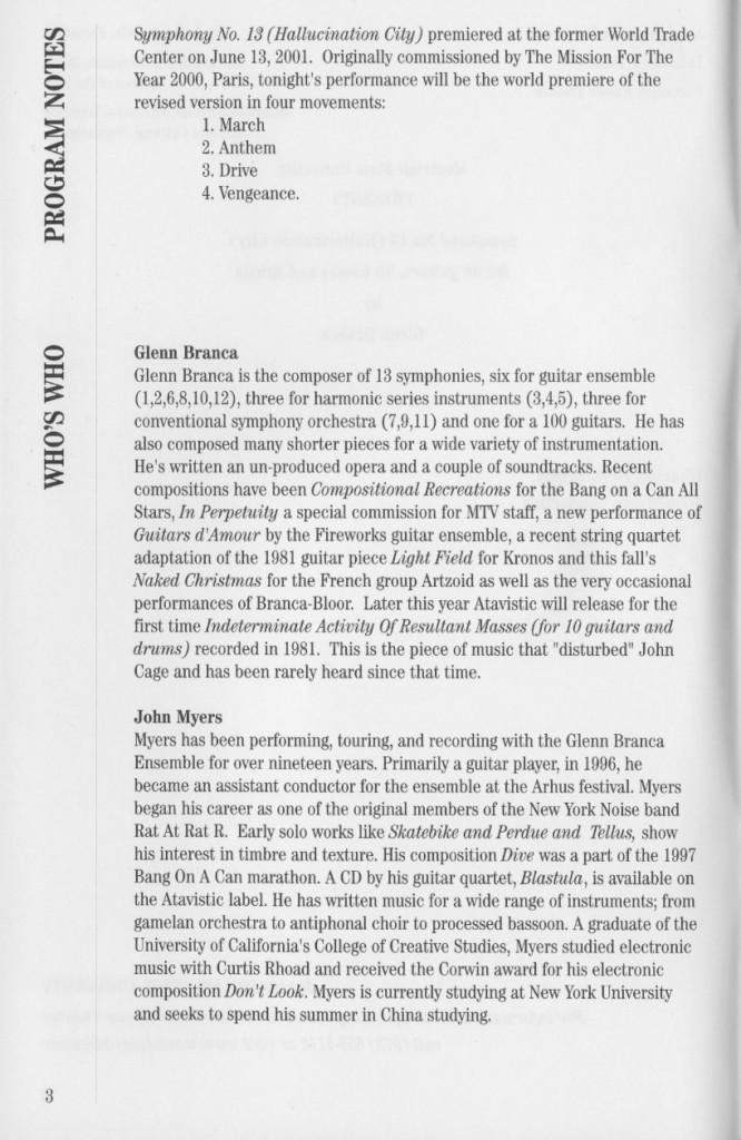 Glenn Branca Symphony No. 13 Performance 1